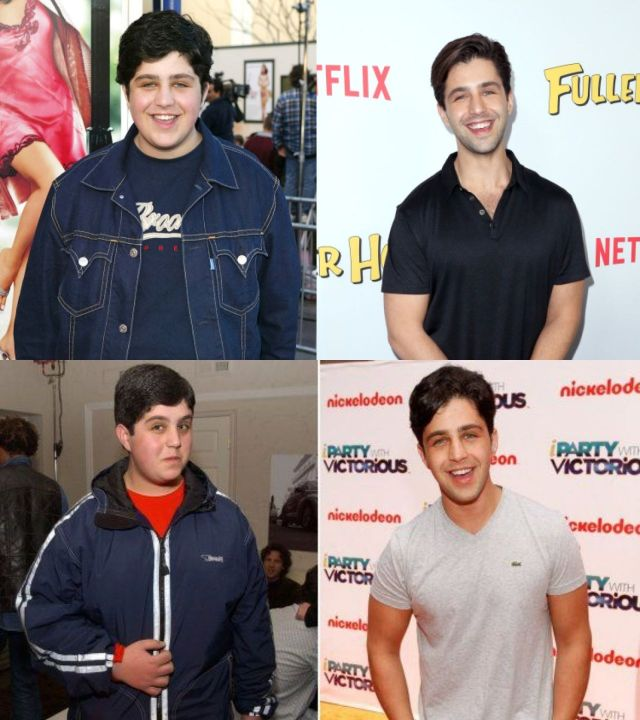 Josh Peck before and after 100 Pounds weight loss.