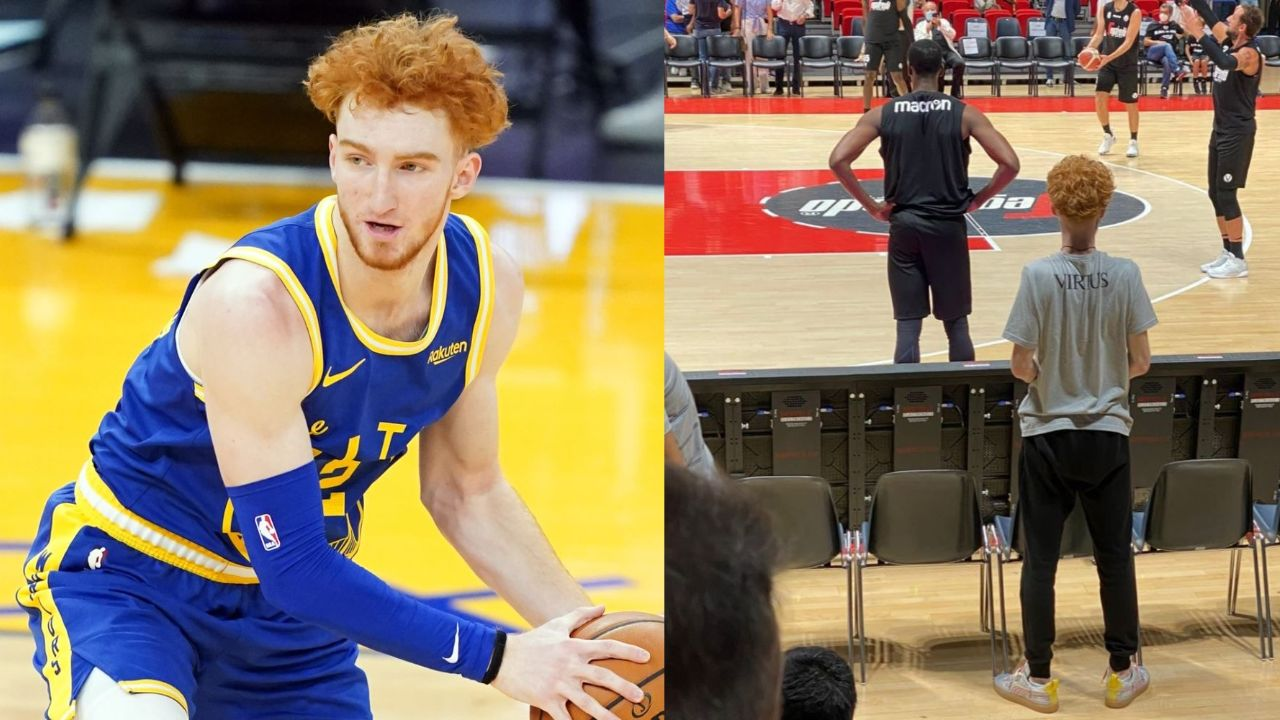 Nico Mannion before and after weight loss caused by an intestinal virus infection.
