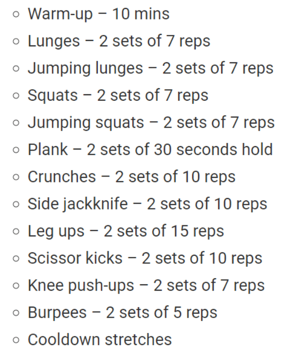 Keely Shaye Smith's workout routine.